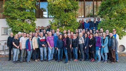 Die ÖLI-UG-GewerkschafterInnen in Arbogast 12.11.2018  Bild: Joachim Wiesner