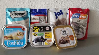 100g Schalen Katzenfutter fehlen