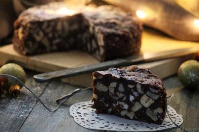 Il panpepato di Terni dolce tipico tradizione Umbria Natale a base di frutta secca miele cioccolato pampepato Italia