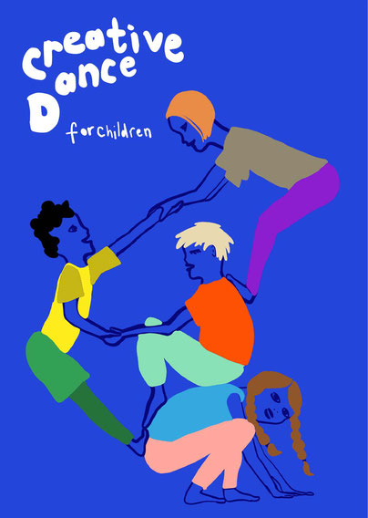 Creative Dance for Children at Cliffs in Margate poster image - as shared on Broadstairs Apartments guest blog by Jess Jordan-Wrench