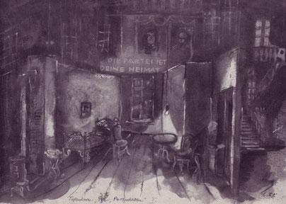 PERSPEKTIVEN: Bühnenbildentwurf von H.W.Lenneweit