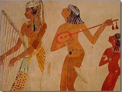 音楽は魂の薬だった古代エジプトと音叉ヒーリングのイメージ図
