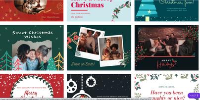 Canvaでクリスマスカード