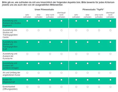 Online-Umfrage Wettbewerbsanalyse