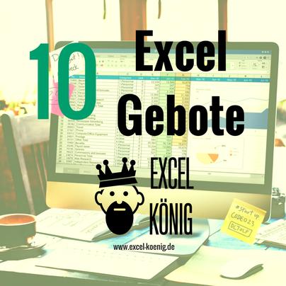 10 Excel Gebote