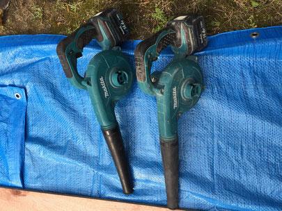 マキタの充電式のブロア 掃除にもとても役立つ便利な道具です