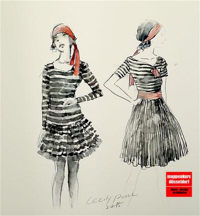 Mappenkurs Düsseldorf NRW, Modedesignstudium, Modezeichnen