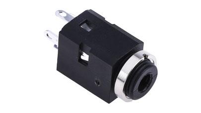 jack audio estereo para chasis panel, jack 3.5mm hembra, conector 3.5mm, guatemala, electronica, electronico, jack para colocar en chasis o panel