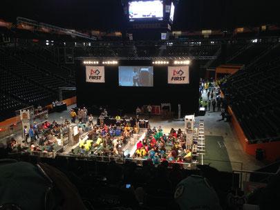 Beim  First Robotics Wettbewerb