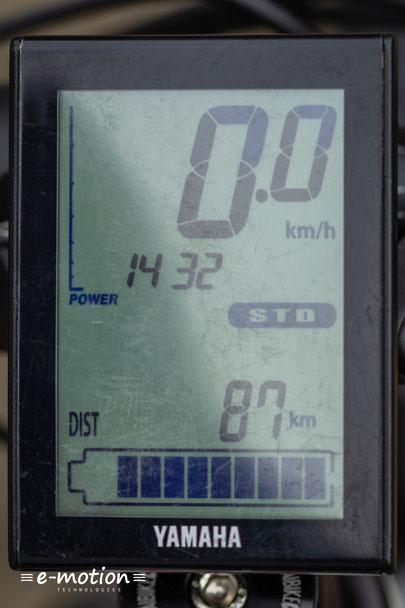 Das Haibike SDURO Trekking 6.0 nutzt ein LCD Display von Yamaha welches die wesentlichen Fahrdaten anzeigt