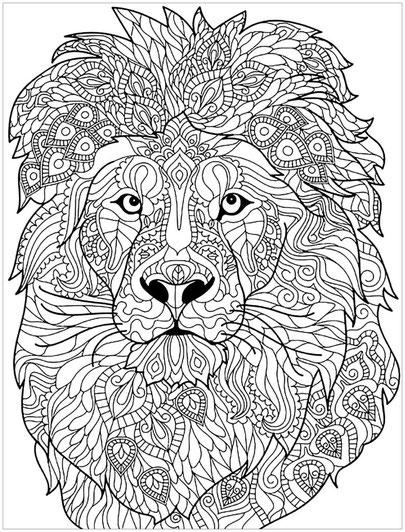 mandala de león mandalas difíciles de animales
