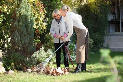 Hilfe bei der Gartenarbeit