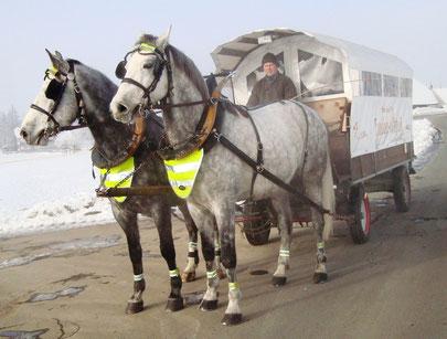 Ein gelungener Anlass: Ausfahrt mit dem Fonduewagen!