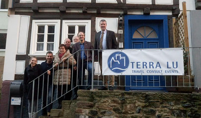 Photo: Terra Lu Travel team in front of our office