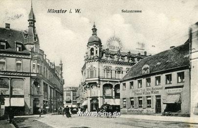 Um 1910 - Bildmitte heutiges Stadtmuseum