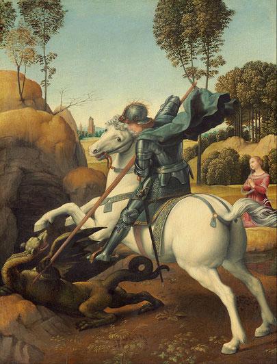 Святой Георгий и дракон - Рафаэль