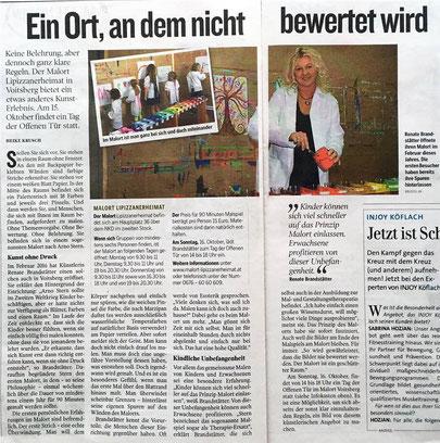 Artikel in der Kleinen Zeitung am Sonntag 9.10.2016 (von Heike Krusch)