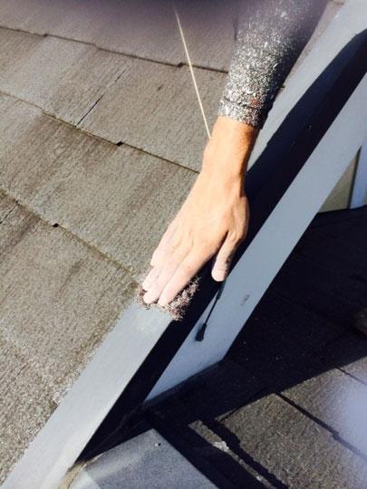 屋根塗装の下地処理 ケレン鉄部