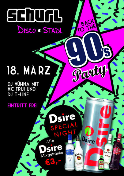 plakat 90er party