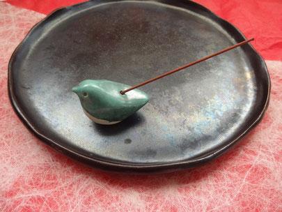 porte-encens oiseau