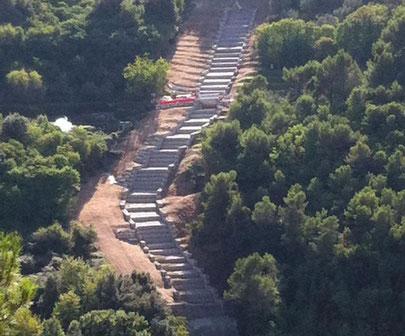 Construction aménagement paysager - déversoir en gabions