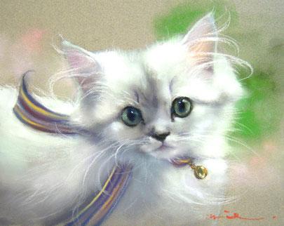 ペット 猫 ペット肖像画 パステル画 パステル画教室
