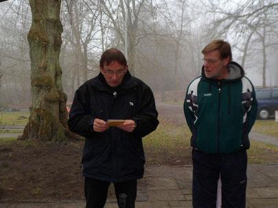 Die Ausrichter Michael Reinicke (li.) und Uwe Lorenz