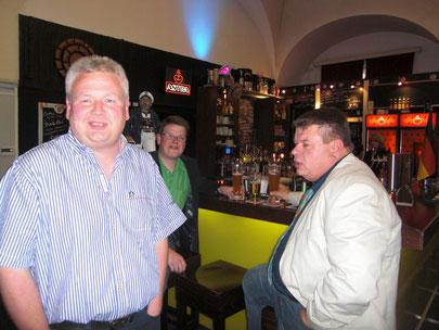 Michael Löhr, Christian Somnitz und Volker Missonnier (v.l.) sind schon da