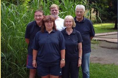 Die Seniorenmannschaft von links: Michae und Andrea Reinicke, Uwe Lorenz, Birgit und Dietrich Stiebeling