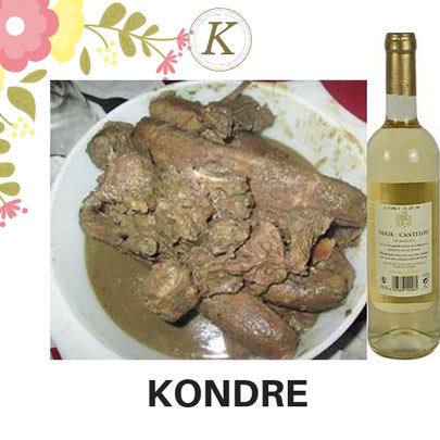 K-73-KONDRE  + Vin blanc Moelleux 75CL. Prix  : 10 000 FCFA. Ajoutez un plat à 2500 FCFA