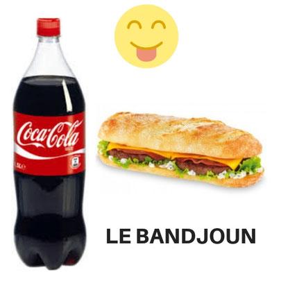 S-444-Sandwich Le Bandjoun. + Boisson 1,25 CL. Prix : 2600 FCFA. Ajoutez 1 sandwich à 2000 FCFA