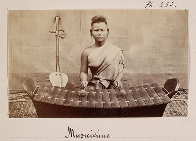 Plus ancienne photographie de roneat thung. Émile Gsell, c. 1866-70