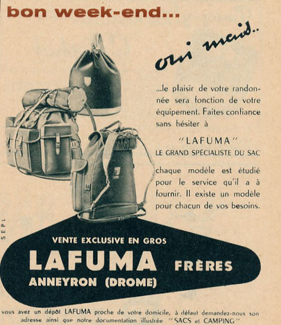 Publicité de 1954