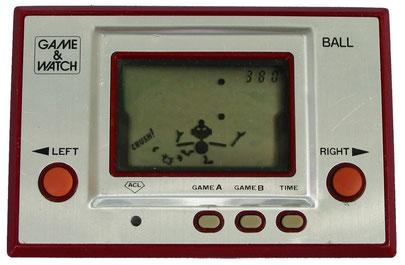 """Game & Watch """"Ball"""" (de la serie Silver), 1980, primera portátil de Nintendo"""