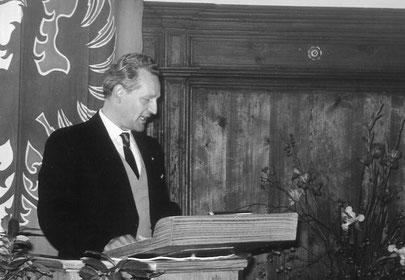 06.05.1960 Gründungspräsident Dr. Walter Probst