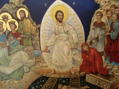 Christus zieht die Seinen aus dem Grab des Todes