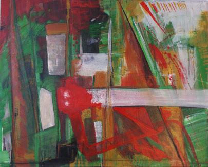 """Landschaft"" 80x100 Acryl auf Leinwand 2008"