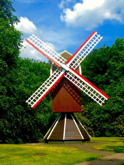Windmühle - Flügel - renoviert mit Bergotec Venti Holzlack System 4 in 1
