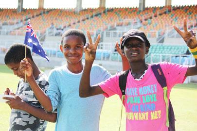Jamaican youth at Sabina Park in Kingston, June 2015.