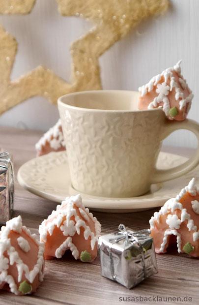 Weihnachtshäuschen Tassenkekse