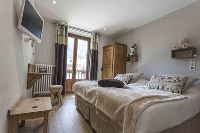 Chambre Double Hôtel La TURRA - Val Cenis