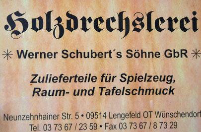 Bild: Wünschendorf Holzdrechslerei Schubert Erzgebirge