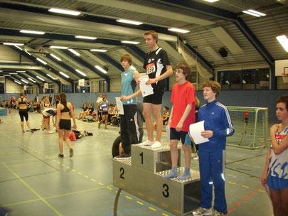 Hallensportfest Troisdorf, Felix Becker - Platz 2 im 60m Sprint