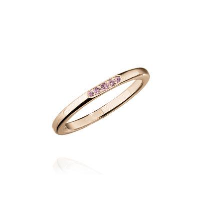 Icon Ring R18kt Roségold mit pinken Saphiren - ateliers Hamburg - Sandra Simon - Schmuckdesign