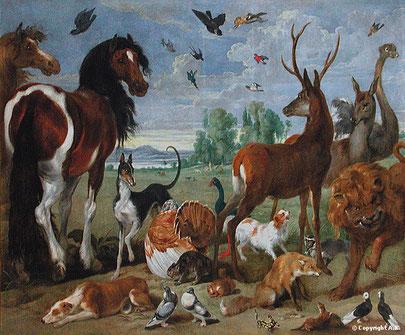 PAUL DE VOS . Entrée des animaux dans l'Arche
