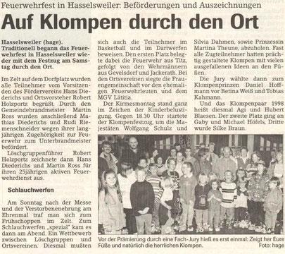 Jülicher Zeitung vom 11.09.1998