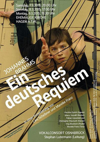 """Plakat """"Ein deutsches Requiem"""", J. Brahms; Foto: Lars Scheibner"""
