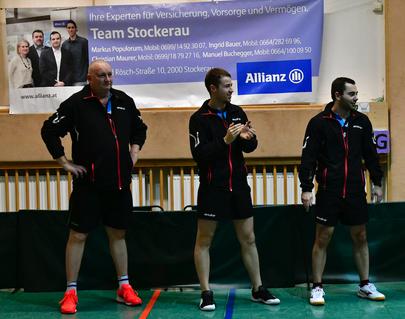 Tomas Janci, Martin Kinslechner und Michael Kufmüller bei der Begrüßung.