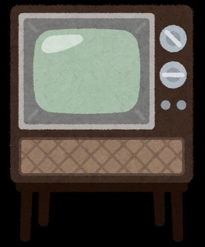 ブラウン管テレビの絵