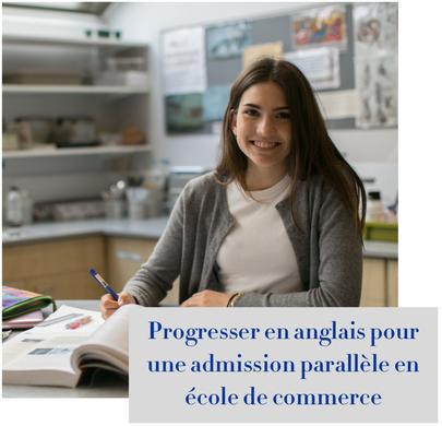 article de blog : progresser en anglais pour une admission parallèle